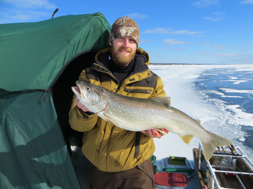 Lake superior ice big kype for Fishing lake superior