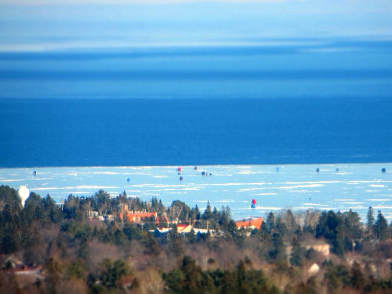 Ice fishing big kype for Fishing lake superior
