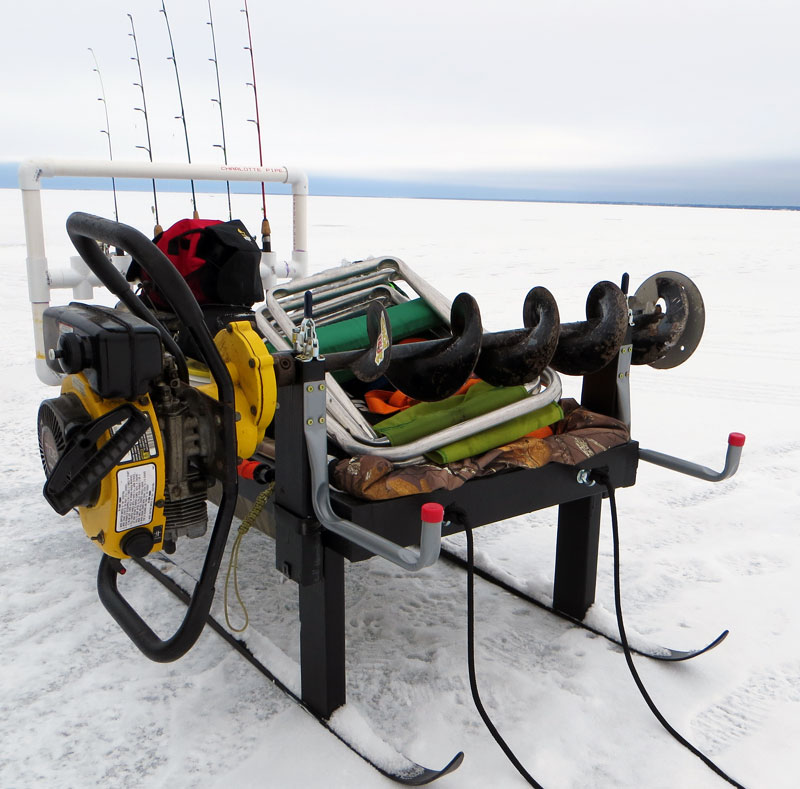 Pics for ice fishing sled modifications for Ice fishing snowmobile